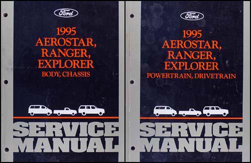 1995 Ford Ranger, Aerostar, Explorer Repair Shop Manual Set Original