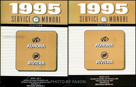 1995 olds aurora buick riviera repair shop manual original 2 volume rh faxonautoliterature com 1965 buick riviera repair manual 1967 buick riviera repair manual
