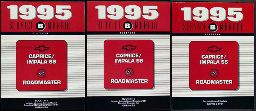 1995 chevy caprice impala ss buick roadmaster repair shop manual rh faxonautoliterature com 98 Chevrolet Caprice Classic 1995 Caprice Wagon Parts