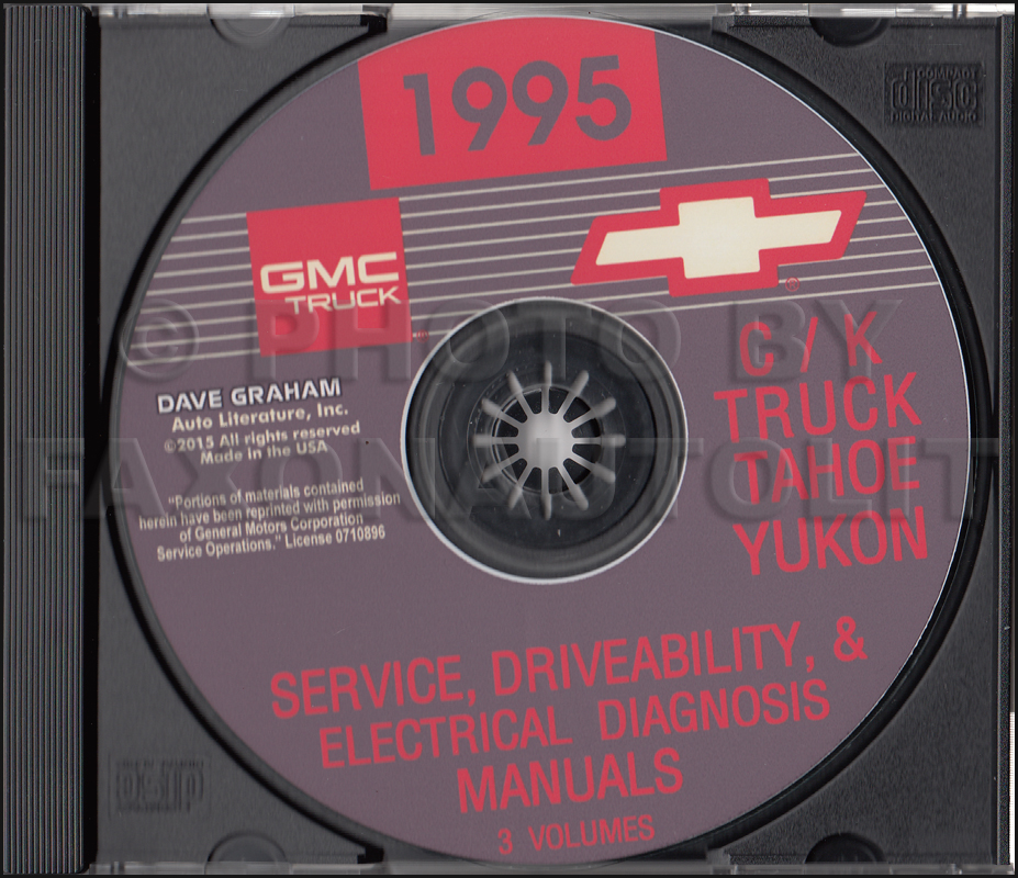 1995 C/K Truck Repair Shop Manual Original Set Pickup ...