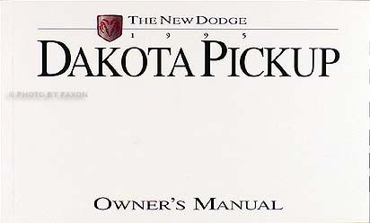 1995 dodge dakota pickup truck original owner s manual pack 95 rh faxonautoliterature com dodge owner's manual dodge owner manual download