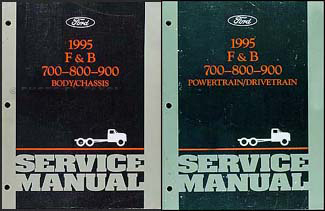 1995 ford f800 cowl and b800 foldout wiring diagram original 1995 ford f and b 700 through 900 medium heavy truck repair shop manual set