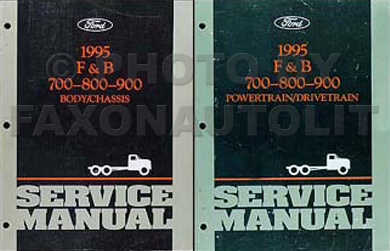 1995 Ford F and B 700 through 900 Medium/Heavy Truck Repair Shop Manual Set