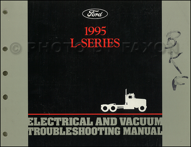 1995FordL SeriesEVTM 1995 ford l series 7000 9000 electrical vacuum troubleshooting manual 1987 ford l8000 wiring diagram at bayanpartner.co