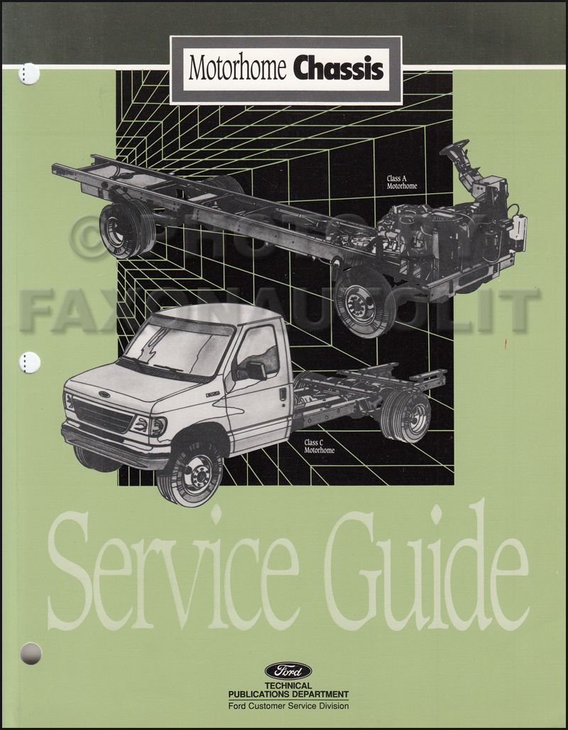 1995 ford motorhome chassis service guide original