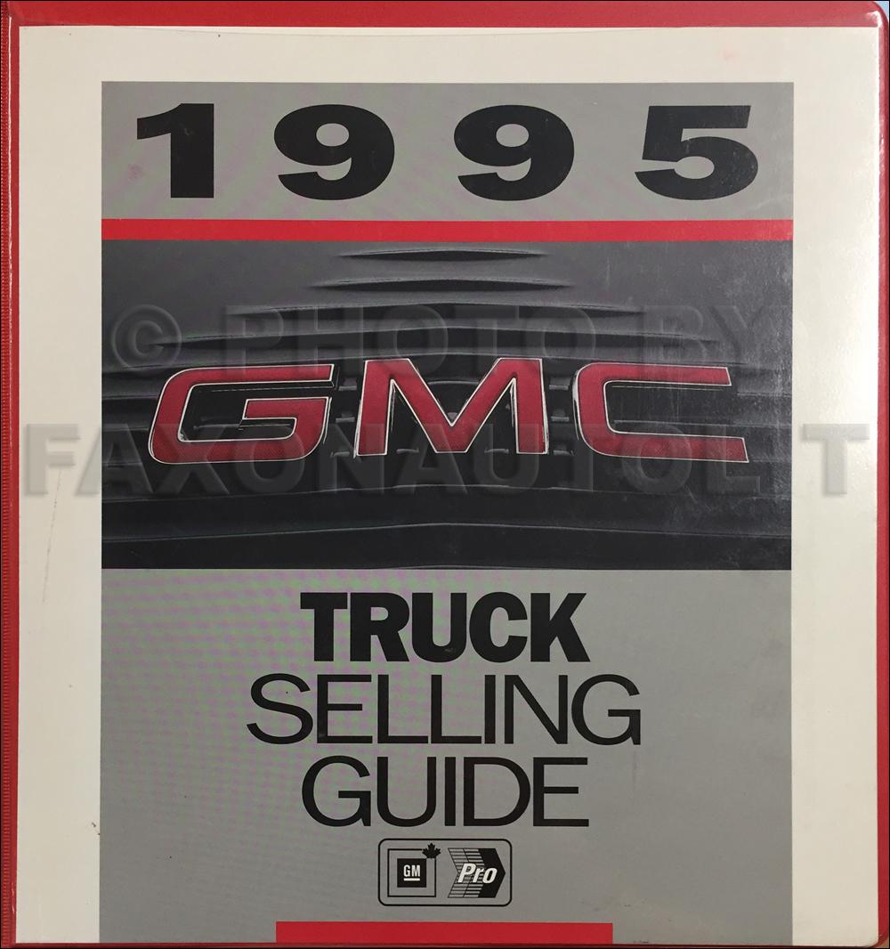 1995 GMC Light Duty Color & Upholstery Dealer Album/Data Book Original Canadian