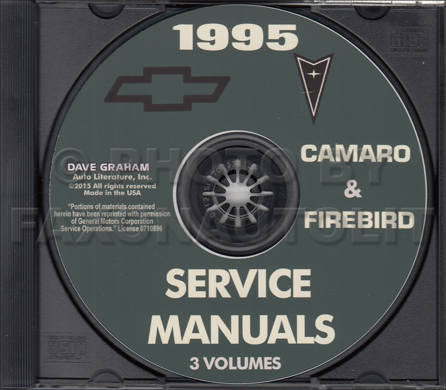 1995 camaro firebird trans am repair shop manual cd rh faxonautoliterature com 1996 Camaro 1995 camaro z28 service manual