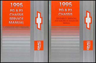 1995 GMC/Chevy P3/PG Forward Control Repair Manual Original Set Motorhome Chassis, Hi-Cube, Stepvan