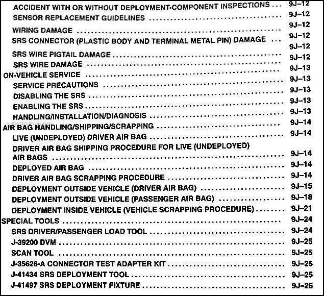 1995 isuzu trooper air bag repair shop manual supplement original rh faxonautoliterature com 1995 isuzu trooper manual locking hubs 1995 isuzu trooper manual locking hubs