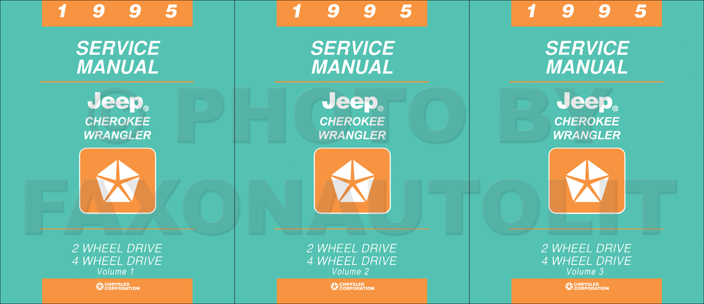 1995 Jeep Cherokee & Wrangler Shop Manual Original