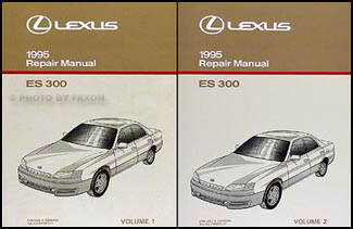 1995 lexus es300 repair shop manual original 2 volume set rh faxonautoliterature com lexus es300 owners manual lexus es300 service manual