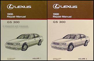 1995 Lexus GS 300 Repair Shop Manual Original 2 Volume Set