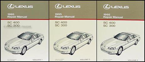 1995 Lexus SC 300 400 Repair Shop Manual Original 3 Volume Set – Lexus Sc300 Wiring Diagram Light