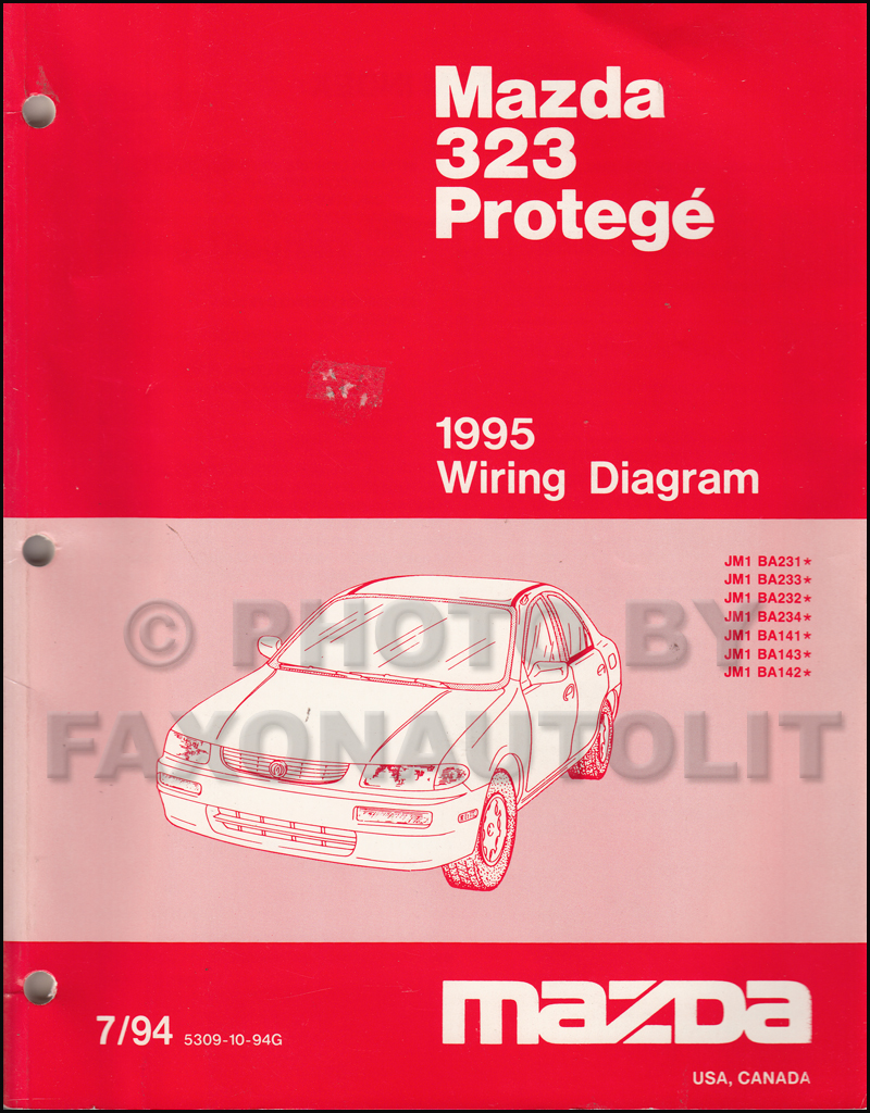 1995 mazda 323 and protege wiring diagram manual original. Black Bedroom Furniture Sets. Home Design Ideas