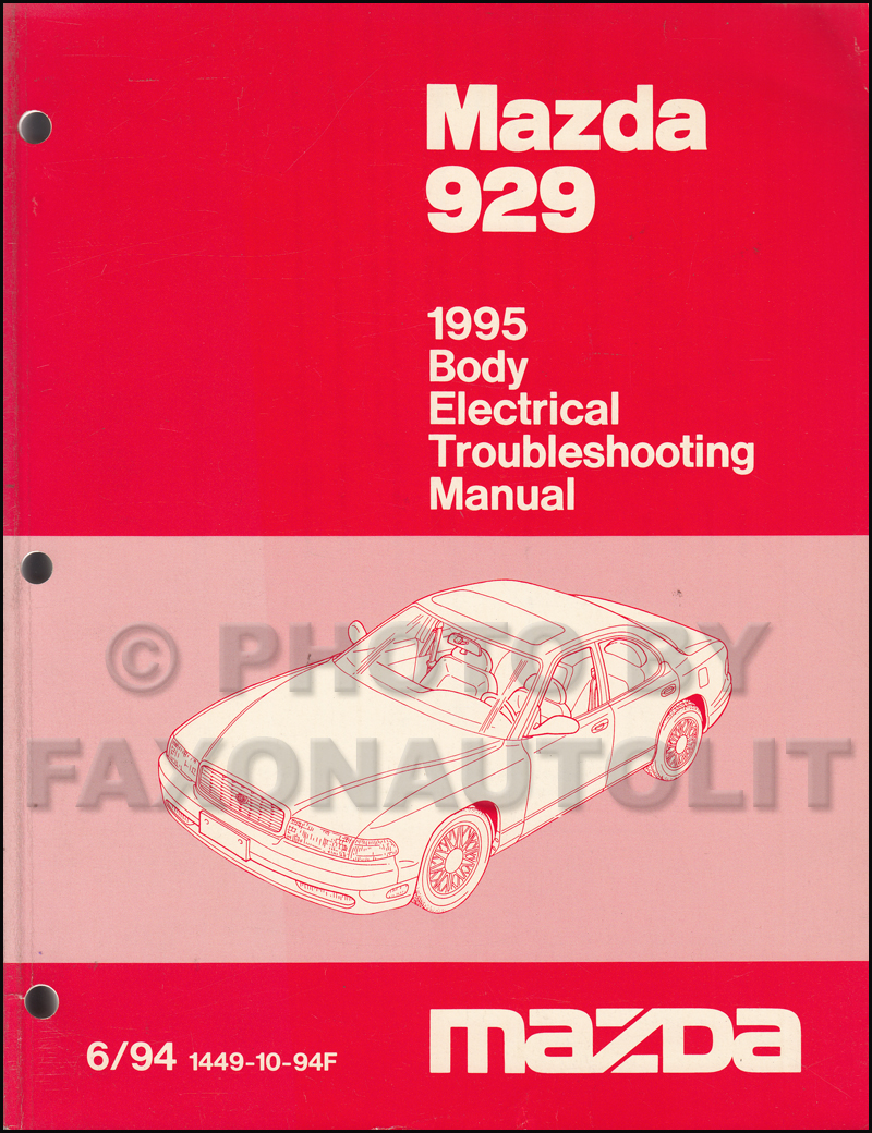 1995 Mazda 929 Body Electrical Troubleshooting Manual Original