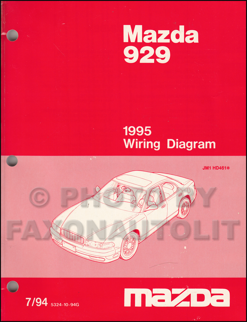 Mazda 929 Wiring Diagram Radio Schematics 2003 Buick Rendezvous Stereo 1995 Manual Original
