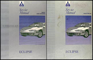 1995 mitsubishi eclipse repair shop manual set original rh faxonautoliterature com 1997 Mitsubishi Eclipse 1997 Mitsubishi Eclipse