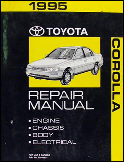 1995 Toyota Corolla Repair Manual Original