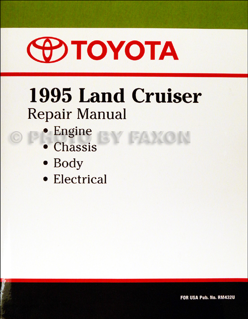 toyota land cruiser wiring diagram manual original 1995 toyota land cruiser repair shop manual factory reprint 139 00