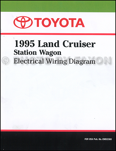 1995 toyota land cruiser wiring diagram manual factory reprint Toyota 4Runner Wiring Diagram