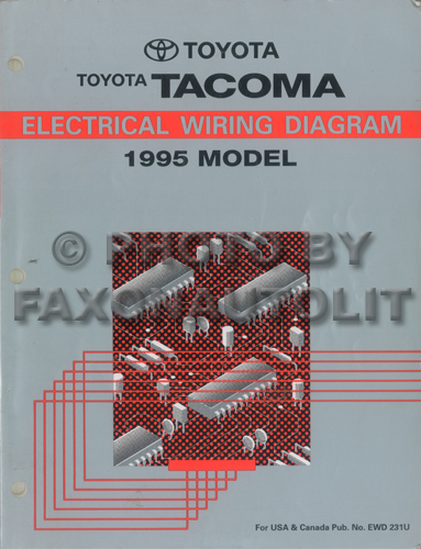 1995 toyota tacoma pickup wiring diagram manual original rh faxonautoliterature com 94 Toyota Pickup Wiring Diagram 1994 Toyota Pickup Wiring Diagram