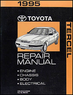 1995 Toyota Tercel Repair Manual Original