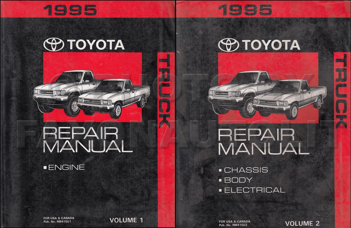 1995 Toyota Truck Wiring Diagram Manual Original