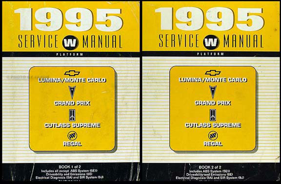 1995 repair shop manual lumina monte carlo grand prix cutlass rh faxonautoliterature com 1986 Buick Regal 1995 buick regal owner's manual