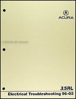 1996-2002 Acura 3.5 RL Electrical Troubleshooting Manual Original