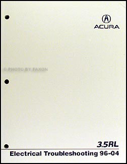 1996 2004 acura 3 5 rl electrical troubleshooting manual originalAcura Rl Wiring Diagram #10
