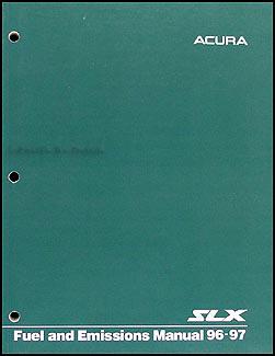 1996 Acura SLX Fuel and Emissions Manual Original Acura
