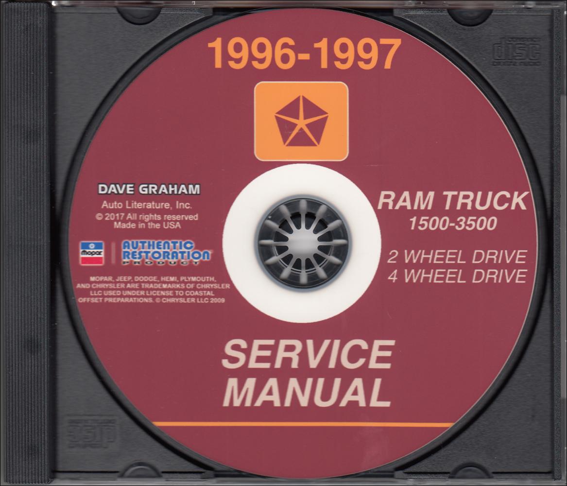 1996 Dodge Ram Truck Repair Shop Manual Original 1500