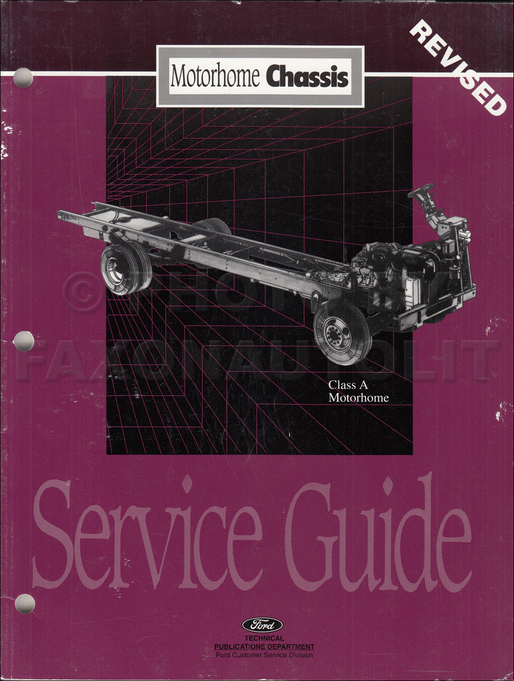 ford f53 service manuals shop owner maintenance and repair faxon 1996 1997 ford motorhome chassis service guide original revised
