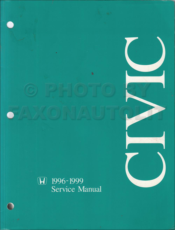 1996 1999 honda civic repair shop manual original rh faxonautoliterature com Red Honda Civic 1999 Manual Red Honda Civic 1999 Manual