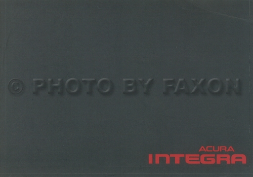 1996 Acura Integra 4 Door Owners Manual Original Acura