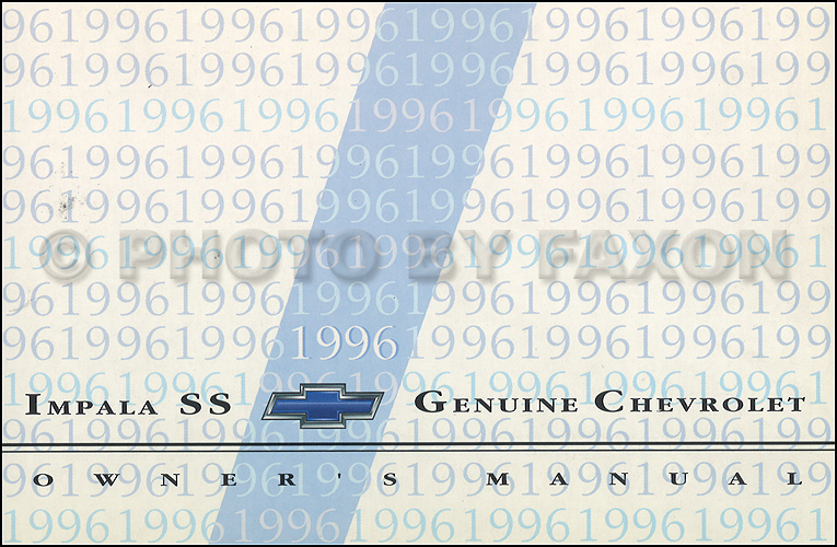 1996 Chevy Impala SS Owner's Manual Original
