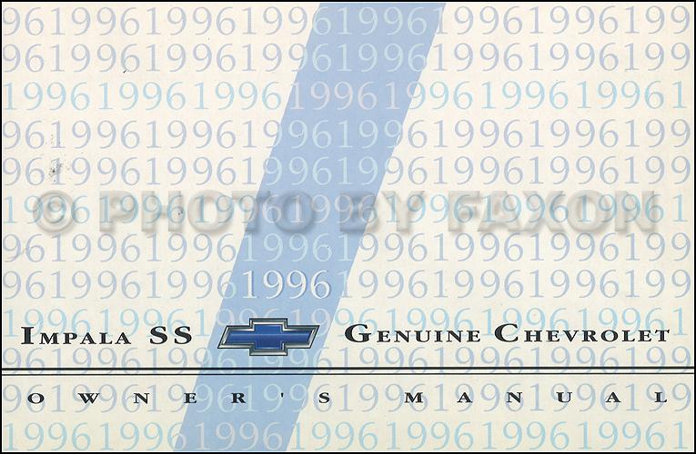 1996 chevy impala ss owner s manual original rh faxonautoliterature com 1996 chevy impala ss service manual 1996 impala ss owners manual pdf