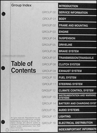 1996 ford contour and mercury mystique repair shop manual. Black Bedroom Furniture Sets. Home Design Ideas