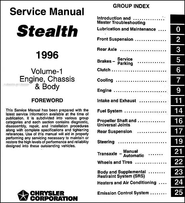 1941 dodge wiring diagram 97 dodge wiring diagram 1996 dodge stealth service manual original 2 volume set