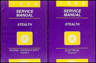 1996 dodge stealth service manual original 2 volume set rh faxonautoliterature com 93 dodge stealth service manual 1991 Dodge Stealth