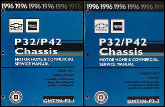 1996GMP32P42Set 1996 p32 & p42 stepvan & motorhome chassis repair shop manual set Basic Electrical Wiring Diagrams at virtualis.co