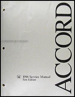 1996 Honda Accord Repair Shop Manual Original border=