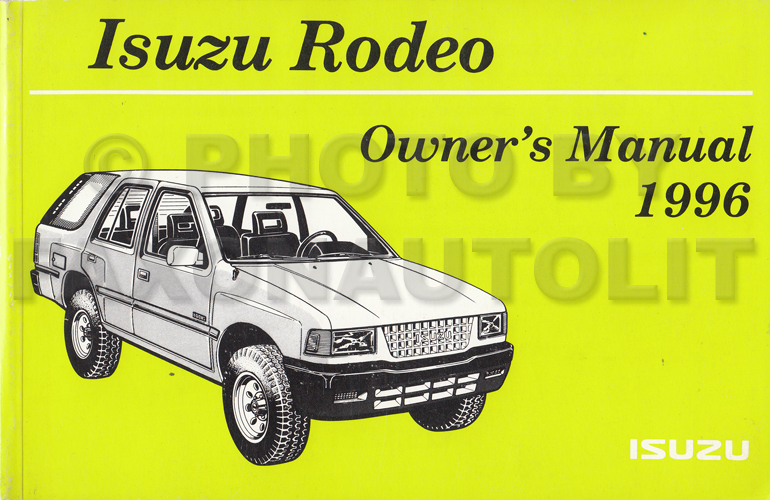 Isuzu Rodeo Owner S Manual Free Download Programs