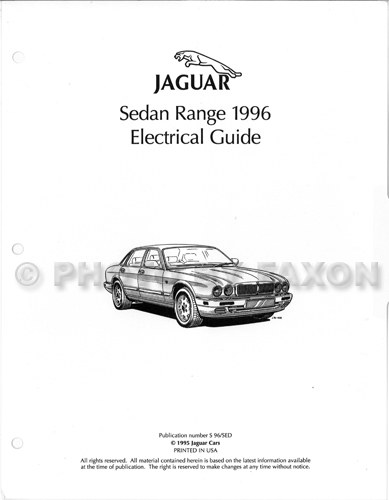 1996JaguarSedanOEG 1996 jaguar xj6 xj12 electrical guide wiring diagram factory reprint 1988 XJ6 Vanden Plas at couponss.co
