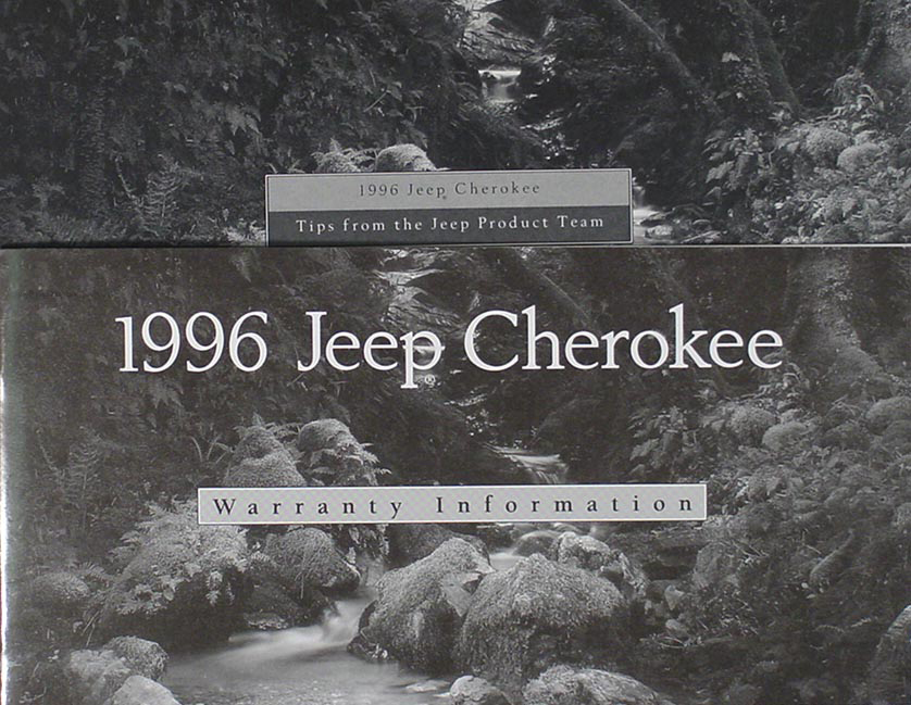 1996 jeep cherokee owner s manual original rh faxonautoliterature com 2000 Jeep Cherokee Owners Manual 2016 Jeep Cherokee Owners Manual