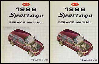 1996KiaSportageORMSet 1996 kia sportage repair shop manual 2 volume set original kia sportage wiring diagram service manual at suagrazia.org