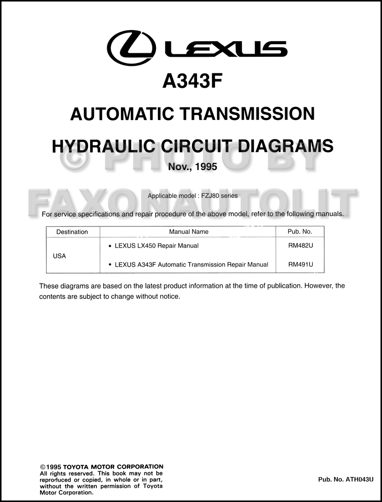 1996    Lexus       LX       450       Wiring       Diagram    Manual Original