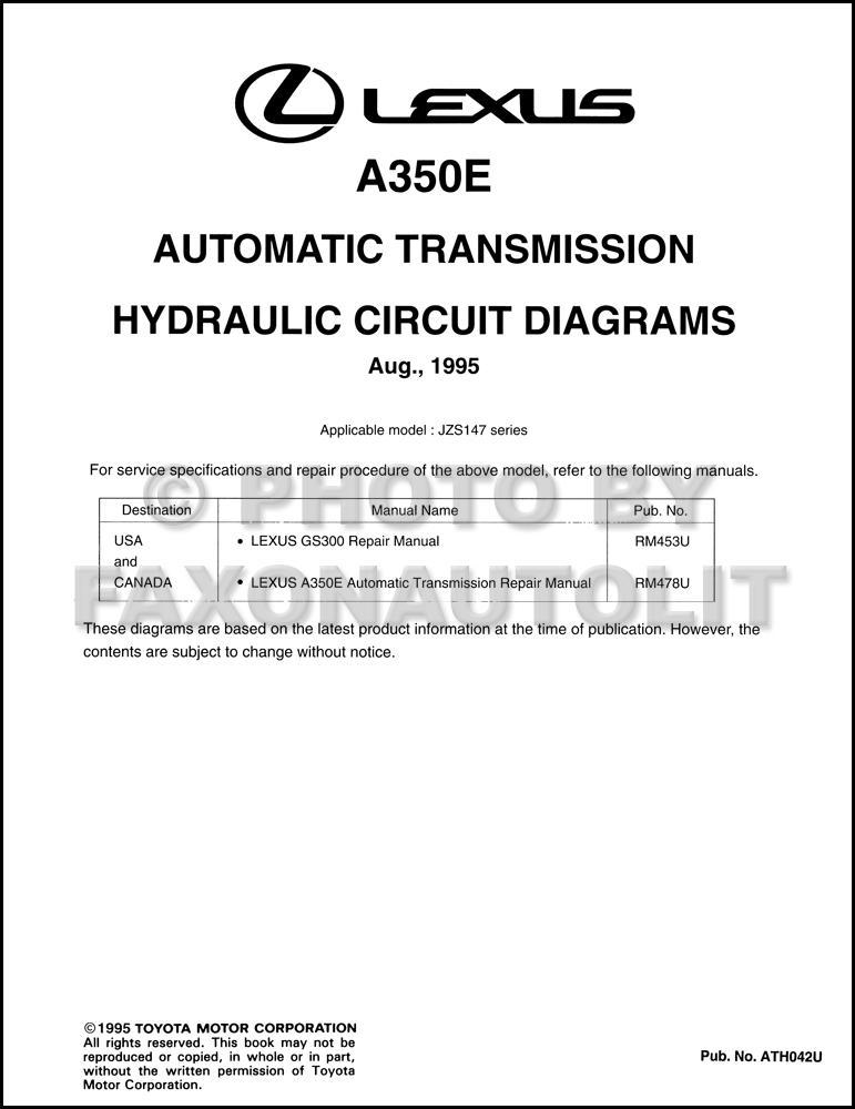 1996 lexus gs300 automatic transmission hydraulic circuit diagrams rh faxonautoliterature com Lexus RX300 Transmission Solenoid 1999 Lexus RX300 Transmission