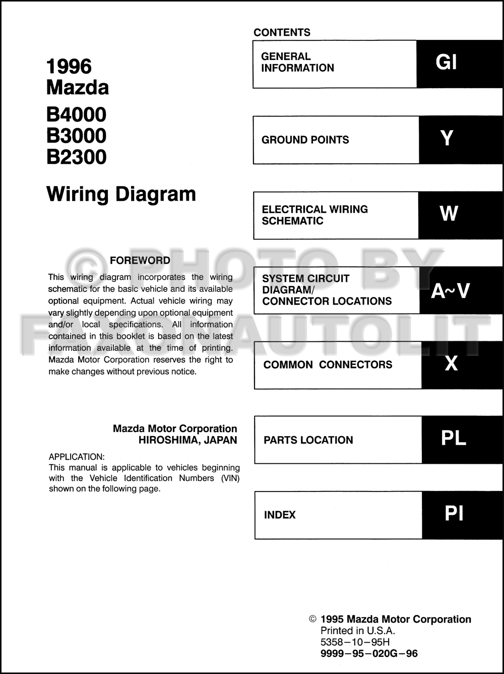 Mazda B4000 Wiring Diagram Maf Daily Update Truck 1984 International S2300 1996 B 4000 Stereo 09 5 Radio