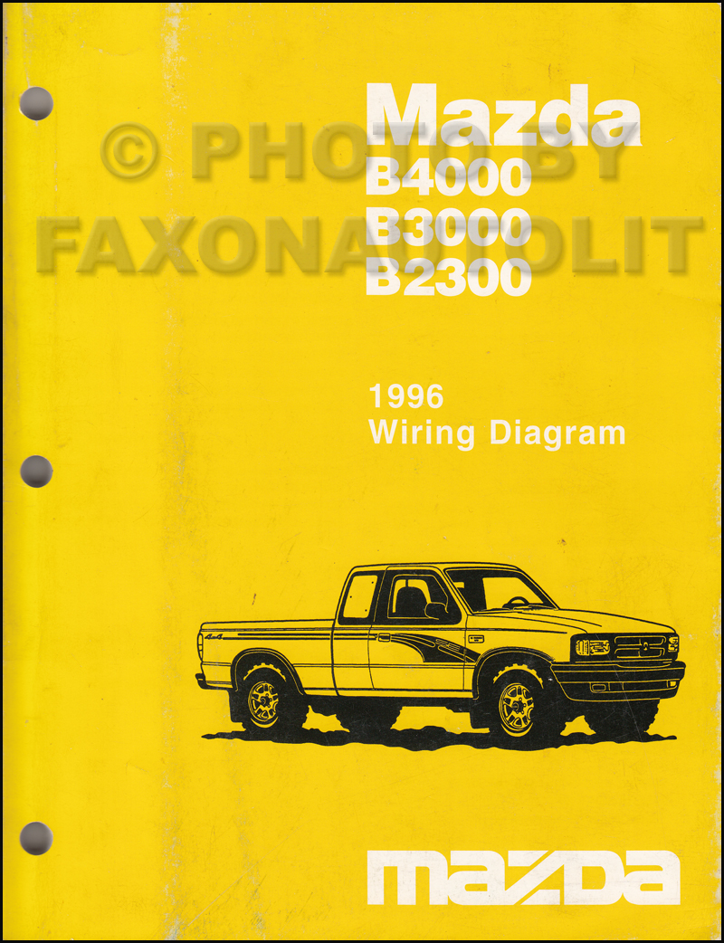 1996 Mazda Pickup Truck Repair Shop Manual Original B2300